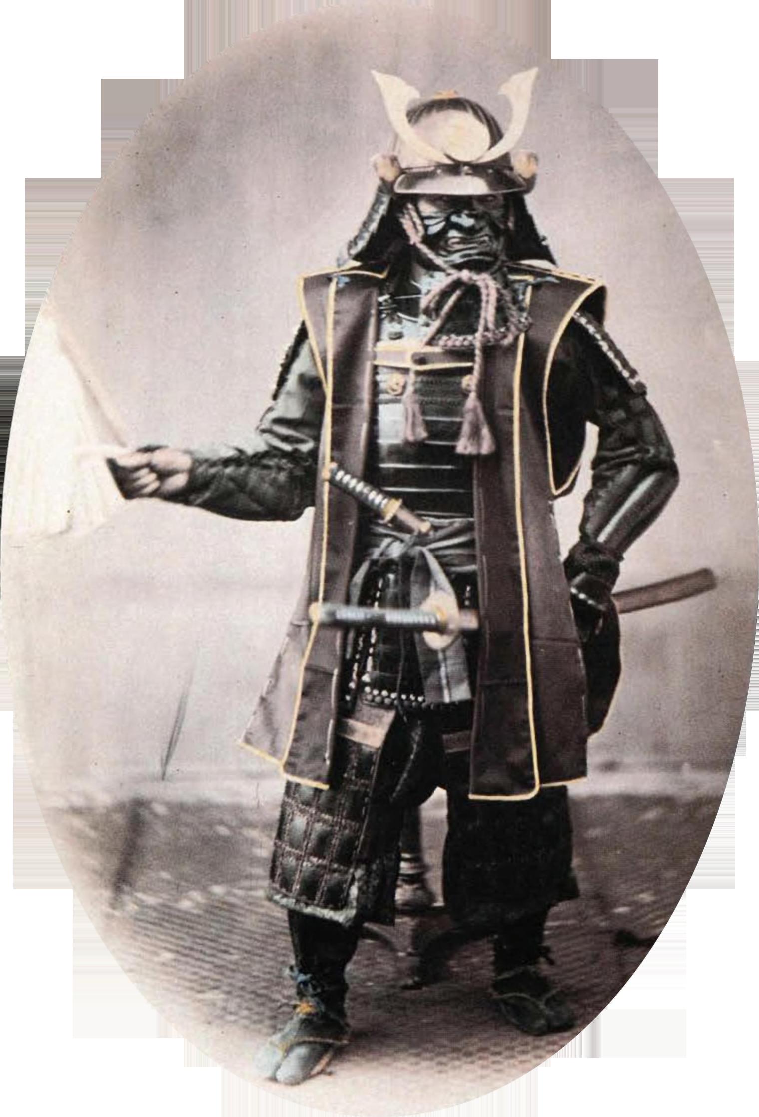 Samurai in armor, 1860