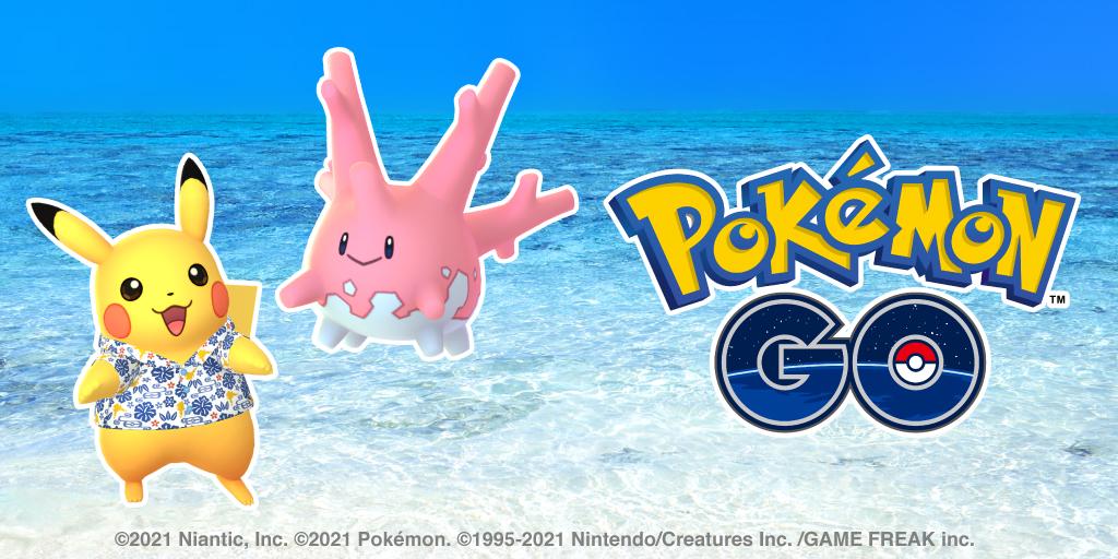 Okinawan Pikachu Corsola - Pokémon GO.jpg